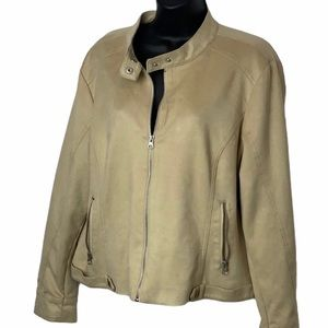 Womens baccini faux suede xl jacket euc